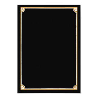 """Haga sus propias invitaciones - negro y frontera invitación 5"""" x 7"""""""