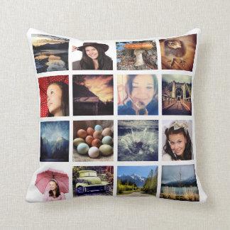 Haga sus propios 32 el collage de la foto de Insta Cojin