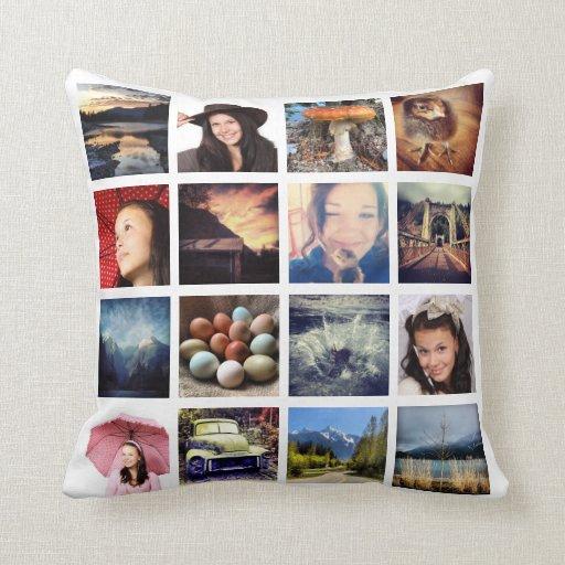 Haga sus propios 32 el collage de la foto de Insta Almohada