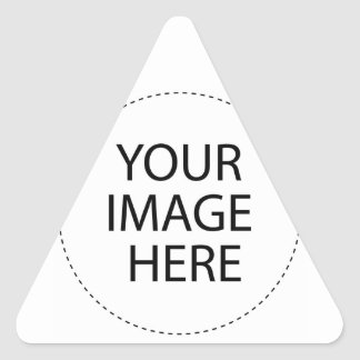 Haga sus propios diseños pegatina triangular