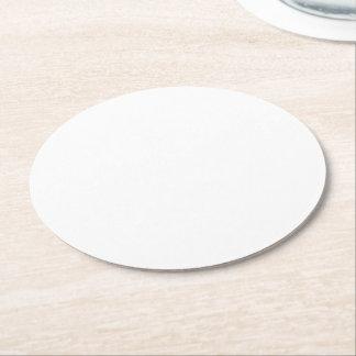 Haga sus propios prácticos de costa de papel posavasos desechable redondo