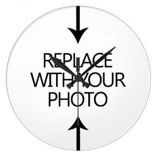 Haga sus propios relojes de pared de la foto