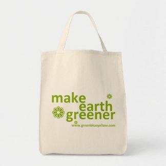 haga tierra un bolso resusable más verde bolsa tela para la compra