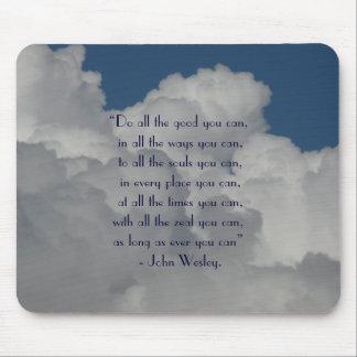 Haga todo el bueno usted puede/cita con el cielo n mousepad