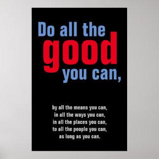 Haga todo el bueno usted puede cita de motivación póster