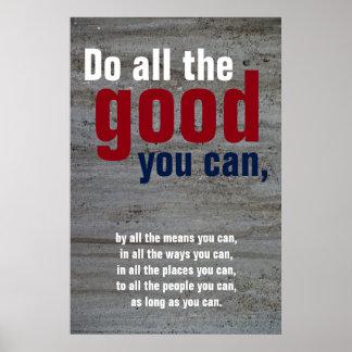 Haga todo el bueno usted puede pared de motivación póster