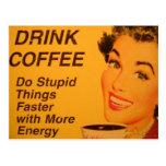 Haga un anuncio más rápido del café del vintage de