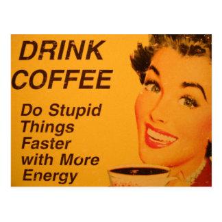 Haga un anuncio más rápido del café del vintage de postal