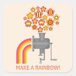 ¡Haga un arco iris! Calcomanía Cuadradase