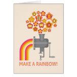 ¡Haga un arco iris! Felicitación
