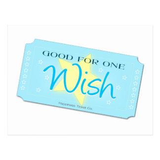 Haga un boleto del deseo tarjeta postal