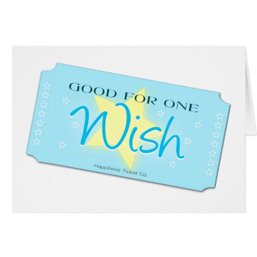 Haga un boleto del deseo tarjetas