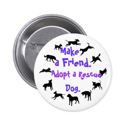 Haga un botón del amigo pin