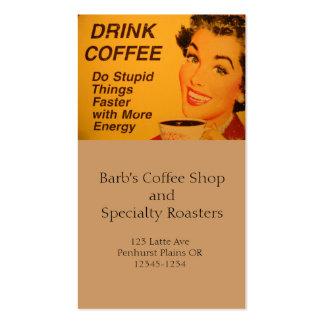 Haga un café más rápido de las cosas estúpidas tarjetas de negocios