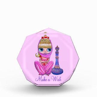 Haga un deseo los genios lindos en rosa con la bot