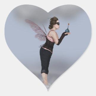 Haga un deseo colcomanias corazon