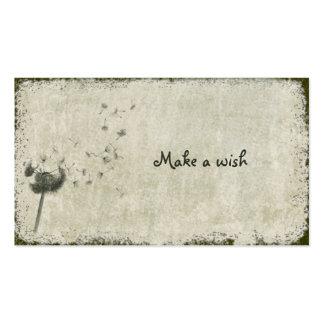 haga un deseo tarjetas personales
