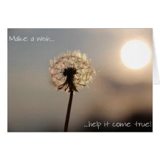 Haga un deseo… tarjeta pequeña