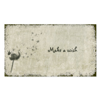 haga un deseo tarjetas de visita