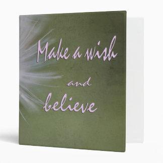 Haga un deseo y crea la carpeta