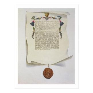 Haga un facsímil la edición de la Carta Magna, Postales
