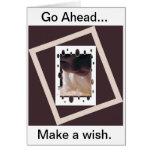 Haga un notecard del deseo tarjeta de felicitación