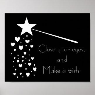 Haga un poster de Frameable del deseo