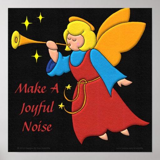 Haga un ruido alegre póster