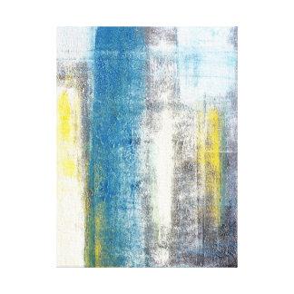 """""""Haga una declaración"""" arte abstracto azul y gris Impresión En Lienzo Estirada"""
