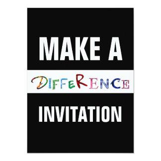 """Haga una diferencia la cita de motivación invitación 5.5"""" x 7.5"""""""