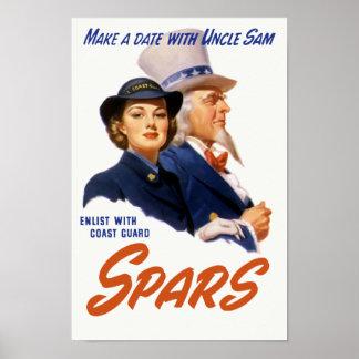 Haga una fecha con tío Sam -- Guardacostas Posters