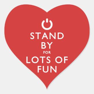Haga una pausa para las porciones de diversión pegatina en forma de corazón