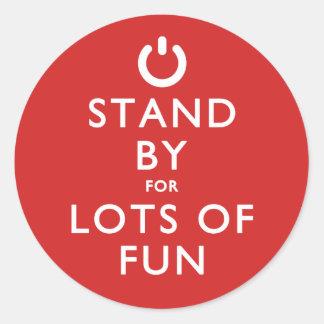 ¡Haga una pausa para las porciones de diversión! Pegatina Redonda