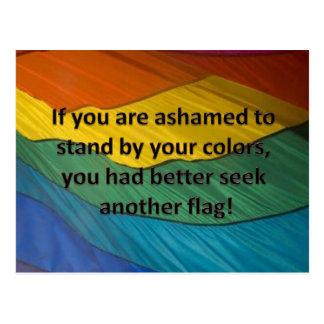 Haga una pausa su bandera postal