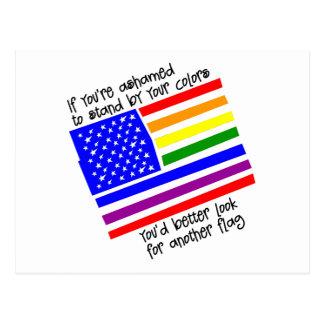 Haga una pausa su regalo del gay de los colores tarjetas postales