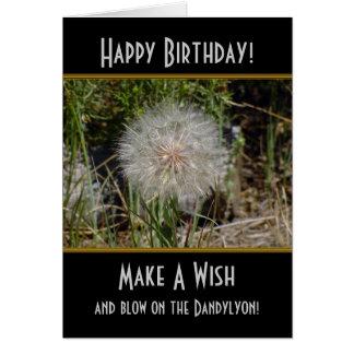 Haga una tarjeta de cumpleaños de Dandylyon del de