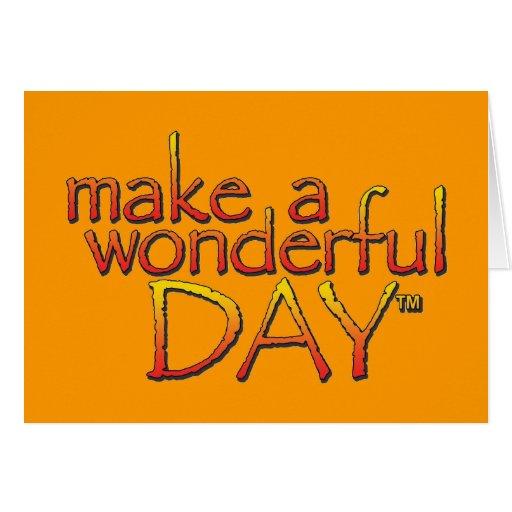 Haga una tarjeta maravillosa del día - modificada