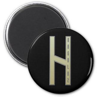 Hagalaz Rune gold Magnet