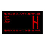 Hagalaz Rune red Business Card