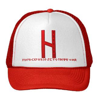 Hagalaz Rune red Trucker Hat