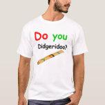 Hágale color verde del didgeridoo playera