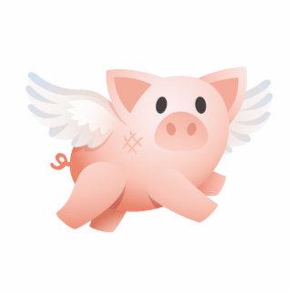 Hágale el ornamento posible del cerdo del vuelo 3D Escultura Fotográfica