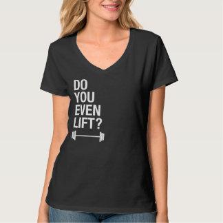 Hágale incluso camiseta del negro de la elevación polera