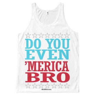 Hágale incluso 'Merica Bro - estrellas patrióticas Camiseta De Tirantes Con Estampado Integral