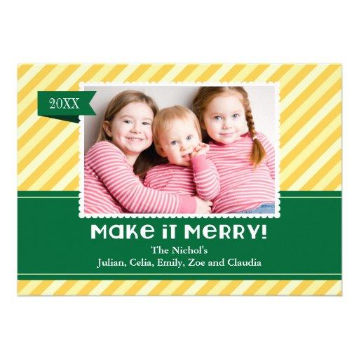 Hágale la tarjeta de la foto de las Felices Navida