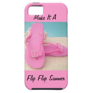 Hágale un caso del Verano-Compañero del flip-flop Funda Para iPhone 5 Tough