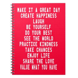 Hágale un diseño gráfico del gran día por Artinspi Note Book