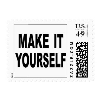 Hágale usted mismo el franqueo de encargo sello postal
