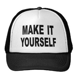 Hágale usted mismo la gorra de béisbol de encargo