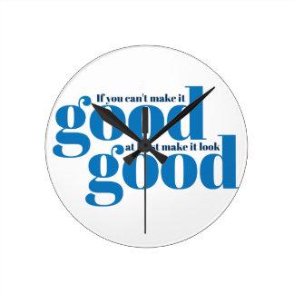 Hágalo bueno Inspirado y de motivación Reloj De Pared